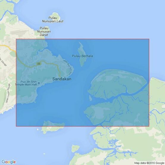 950 Pelabuhan Sandakan Admiralty Chart