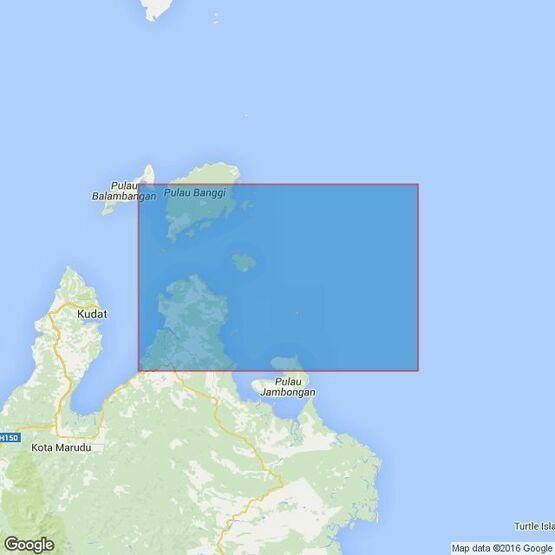 1654 Pulau Banggi to Pulau Jambongan Admiralty Chart