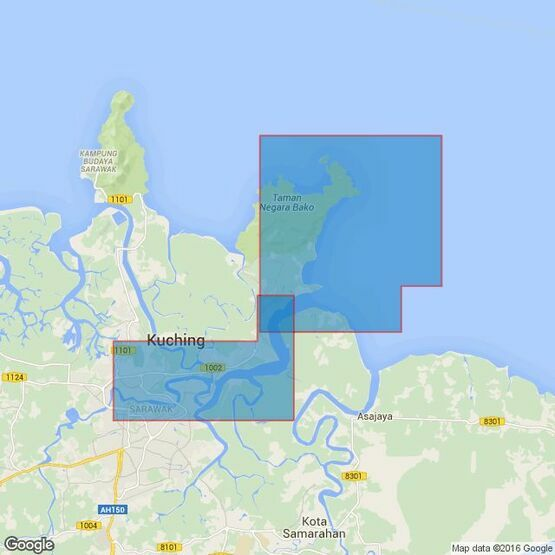 1822 Sungai Sarawak Tanjung Po to Pending Admiralty Chart