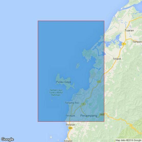 3626 Approaches to Kota Kinabalu and Teluk Sapangar Admiralty Chart