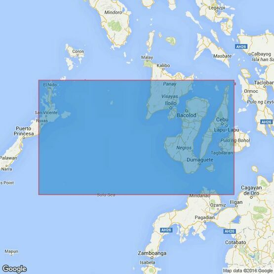 3809 Tagolo Point to Cuyo Islands including Cebu- Negros and parts of Panay and Palawan Admiralty Chart