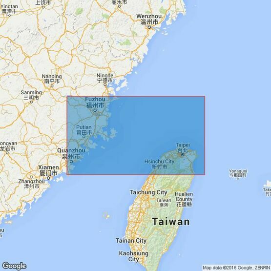 1761 Taiwan StraitNorthern Part Admiralty Chart