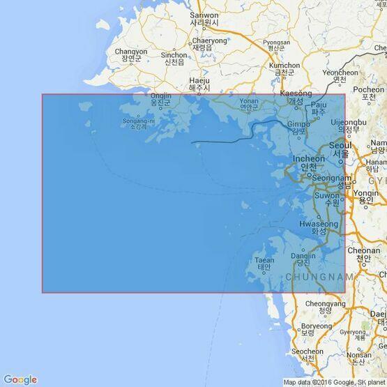 1258 Kyongnyolbi Yolto to Taech'ong Gundo Admiralty Chart