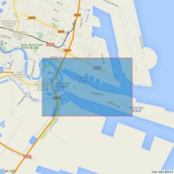 2654 Tianjin Xingang Gangchi Admiralty Chart