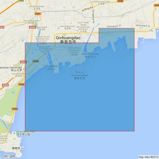 3378 Approaches to Qinhuangdao Admiralty Chart