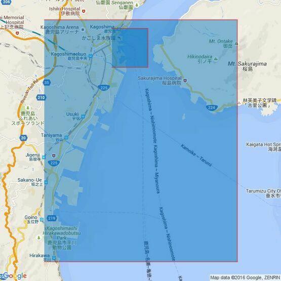 654 Ports in Kagoshima Wan Admiralty Chart