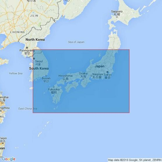 2347 Southern Japan and Adjacent Seas Admiralty Chart