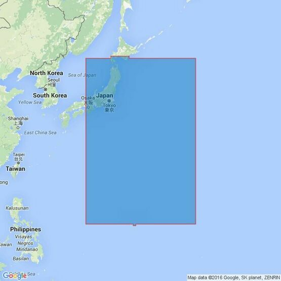 4510 Eastern Portion of Japan Admiralty Chart