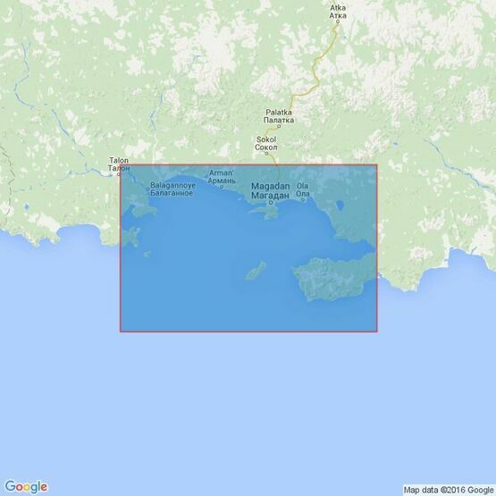 2130 Tauyskaya Guba Admiralty Chart