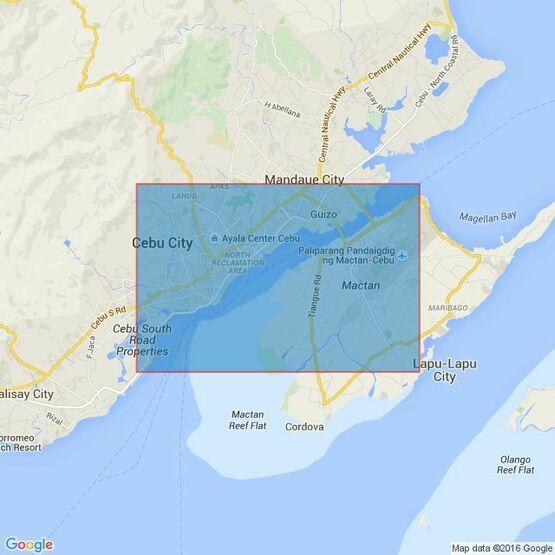 14 Cebu-East Coast,Cebu Harbour Admiralty Chart