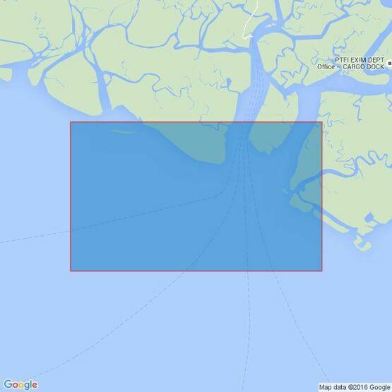 3527 Sungai Aika to Selat Muli Admiralty Chart