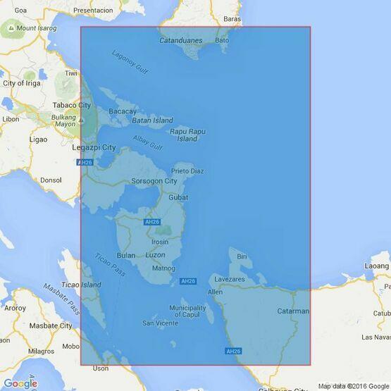 4486 Approaches to San Bernardino Strait Admiralty Chart