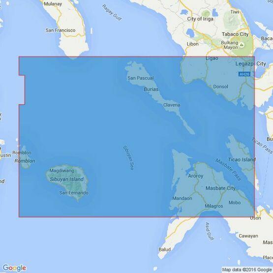 4487 Sibuyan Sea to Ticao Pass Admiralty Chart