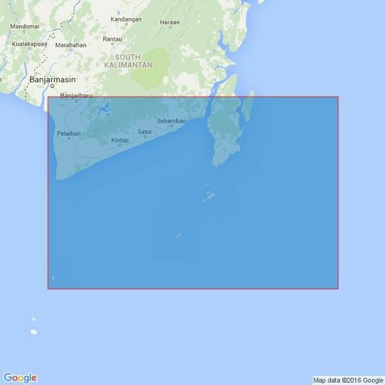 3017 Tanjung Selatan to Pulau Laut including Pulau-Pulau Lima Admiralty Chart