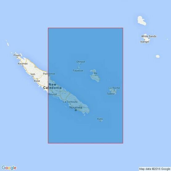 936 Nouvelle-Caledonie (South-eastern part) Admiralty Chart