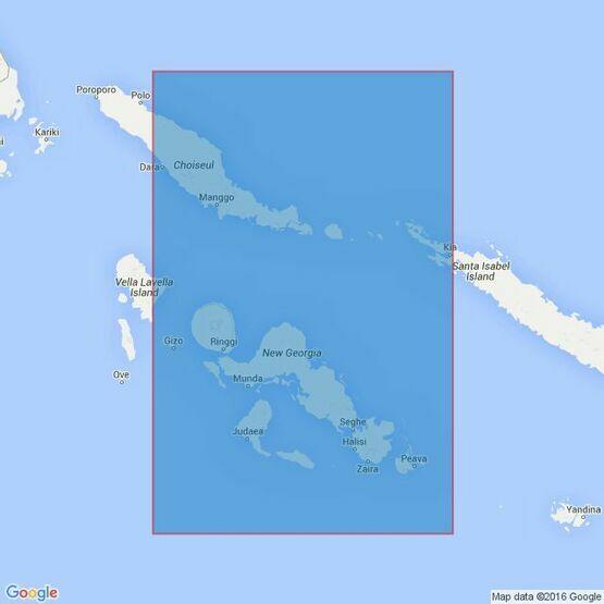 3995 Choiseul Island to New Georgia Island Admiralty Chart