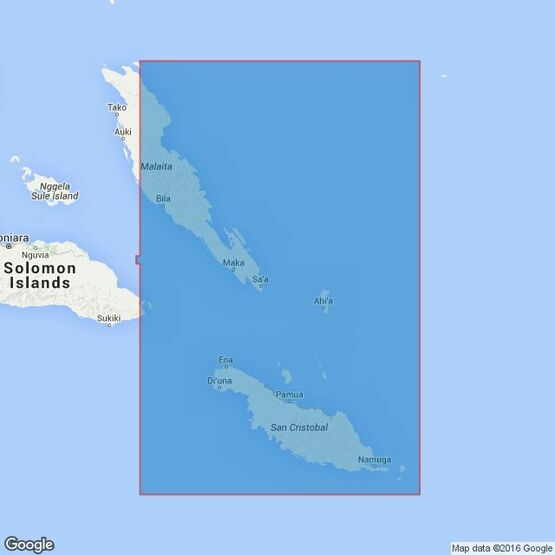 3998 San Cristobal Island to Malaita Island Admiralty Chart