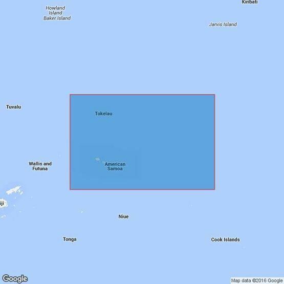 4629 Samoa Islands to Northern Cook Islands and Tokelau Admiralty Chart