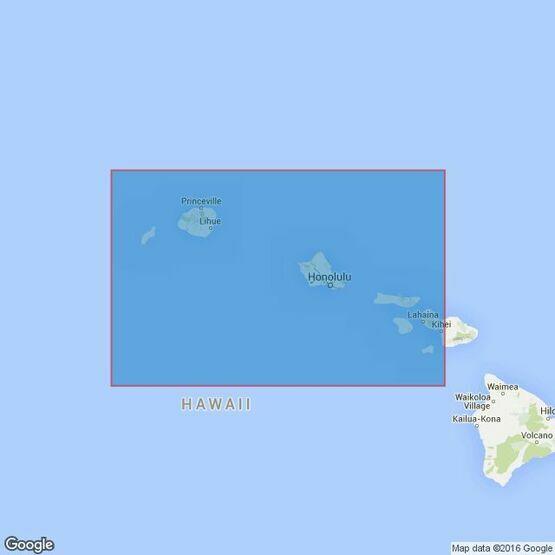 1308 Maui to Niihau Admiralty Chart