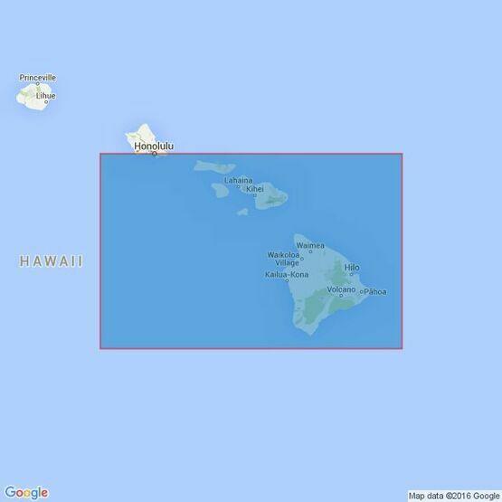 1309 Hawaii to Oahu Admiralty Chart