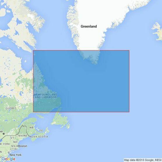 4405 Labrador SeaStrait of Belle Isle to Davis Strait Admiralty Chart