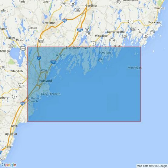 2490 Monhegan Island to Cape Porpoise Admiralty Chart