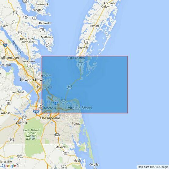2919 Chesapeake Bay Entrance Admiralty Chart