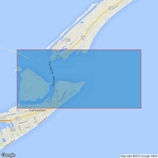 3183 Approaches to Galveston Bay Admiralty Chart