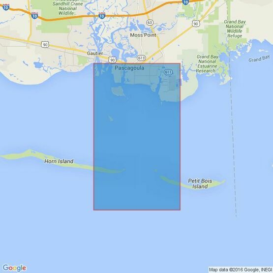 3841 Pascagoula Harbor Admiralty Chart