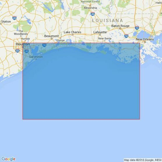 3850 Galveston Bay to Ship Shoal Admiralty Chart