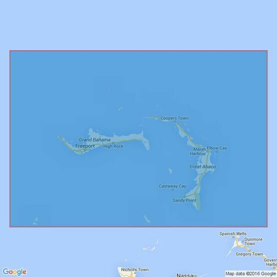 3910 Little Bahama Bank including North West Providence Channel Admiralty Chart