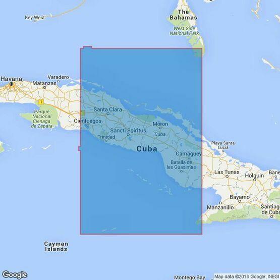 3866 Cuba Middle Sheet Admiralty Chart