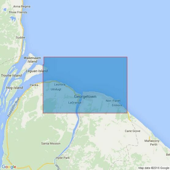 533 Georgetown and Mouths of Demerara and Essequibo Rivers Admiralty Chart