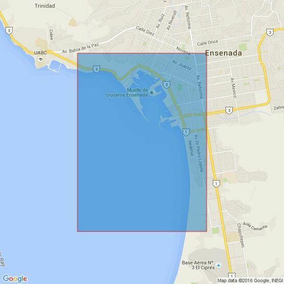 1938 Ensenada and Approaches Bahia de Todos Santos Admiralty Chart