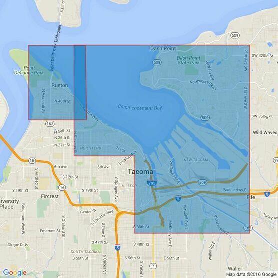 48 Puget Sound - Alki Point to Point Defiance Admiralty Chart