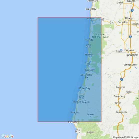 3123 Cape Blanco to Yaquina River Admiralty Chart
