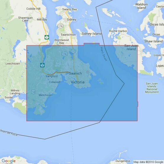 4953 Vancouver Island, Race Rocks to d'Arcy Island Admiralty Chart