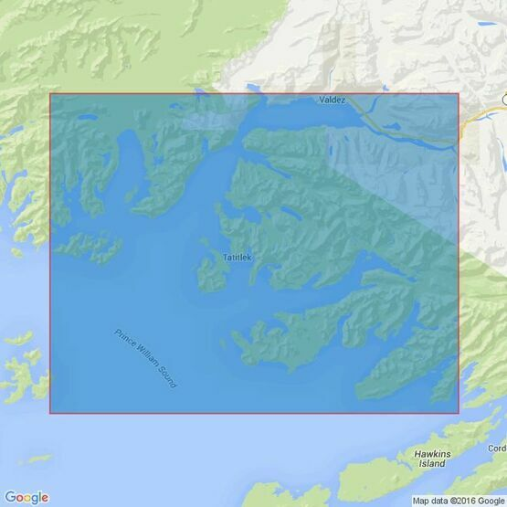 4981 Prince William Sound,Port Fidalgo & Valdez Arm Admiralty Chart