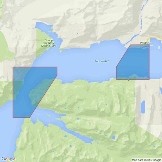4982 Alaska,south coast,Prince William Sound,Valdez Arm & Port Valdez Admiralty Chart