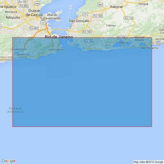 553 Approaches to Baia de Guanabara Admiralty Chart