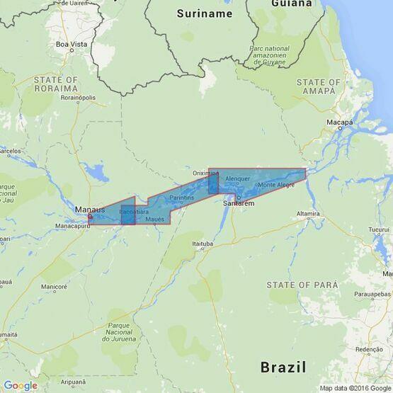 2229 Rio Amazonas - Almeirim to Manaus Admiralty Chart