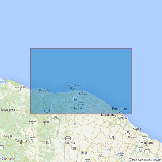 3957 Tutoia to Fortaleza Admiralty Chart