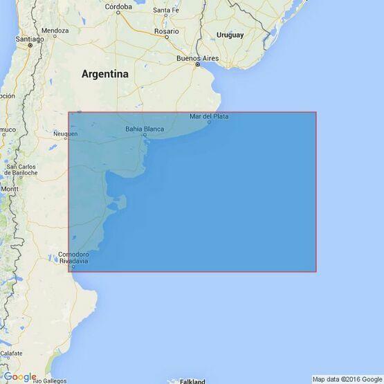 557 Mar del Plata to Comodoro Rivadavia Admiralty Chart