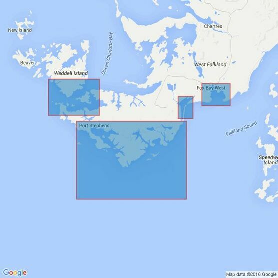 2543 Anchorages in West Falkland Island Admiralty Chart