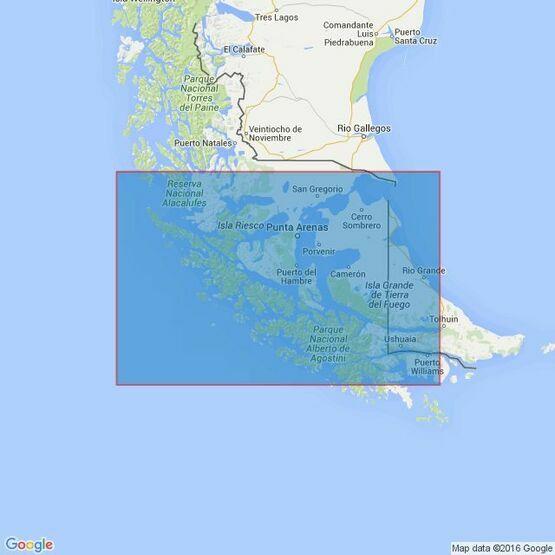 554 Estrecho de Magallanes Admiralty Chart