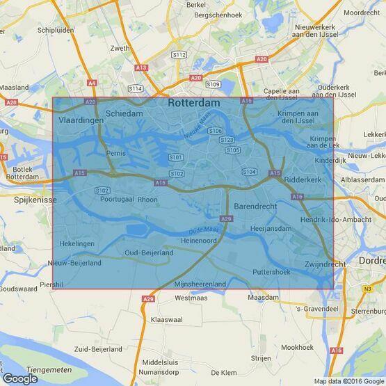 208 Netherlands, Rotterdam, Nieuwe Maas and Oude Maas Admiralty Chart